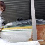 S14シルビアDIY フロントフェンダーのFRP貼り付け作業は私が担当☆楽し過ぎた